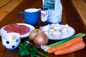 Ingredients for the stew